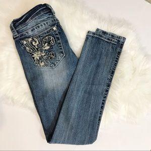 Miss Me skinny jeans 27 Fleur de Lis